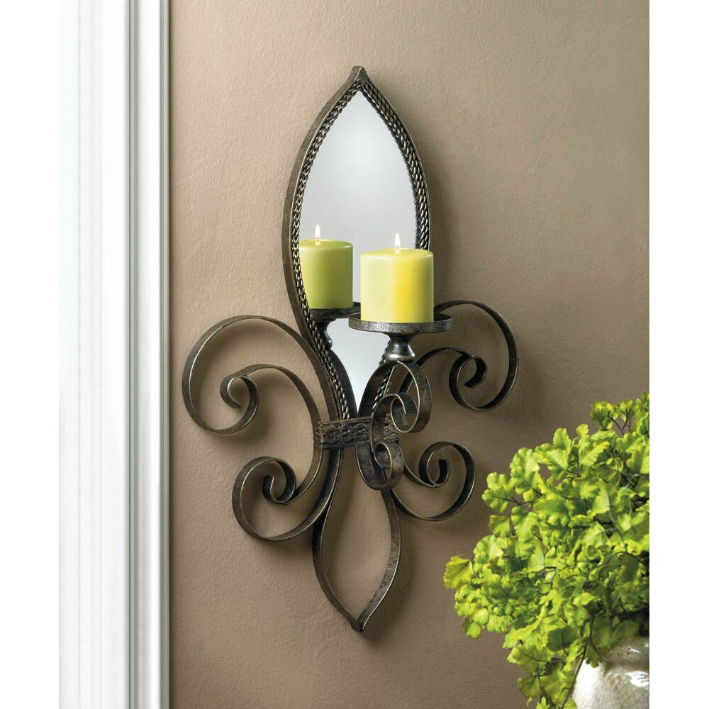 Zingz thingz fleur de lis mirrored wall sconce reviews Fleur de lis wall