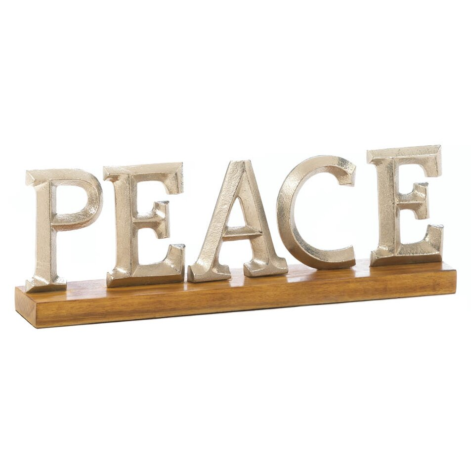 Zingz & Thingz Peace Block Letter Stand & Reviews | Wayfair