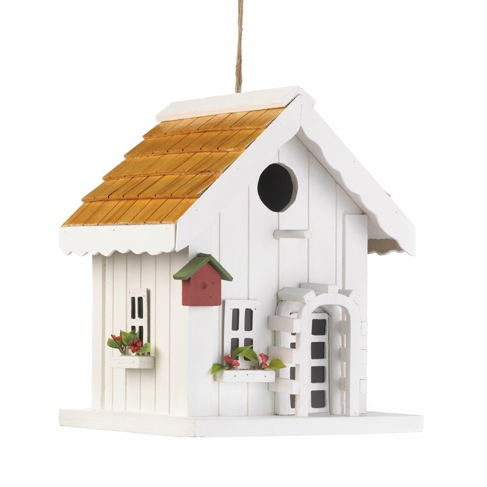 Decorative Bird House Theme And Kids Rooms Ideas: Zingz & Thingz Coastal Cottage Hanging Birdhouse & Reviews