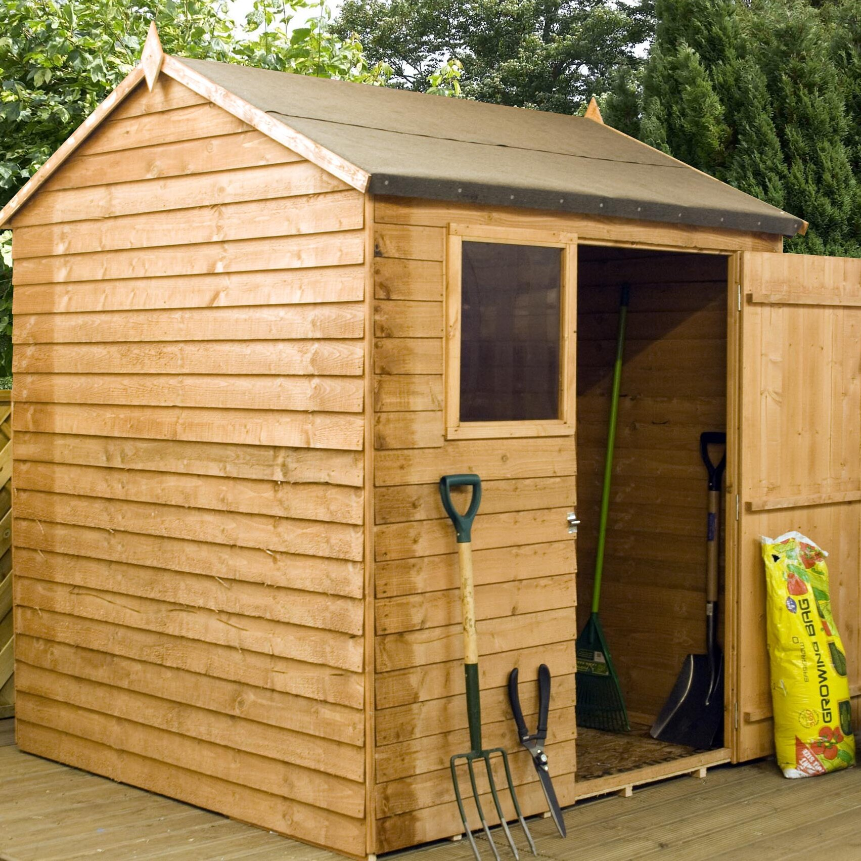 Mercia garden products 6 x 4 overlap apex shed reviews for Garden shed 5 x 4