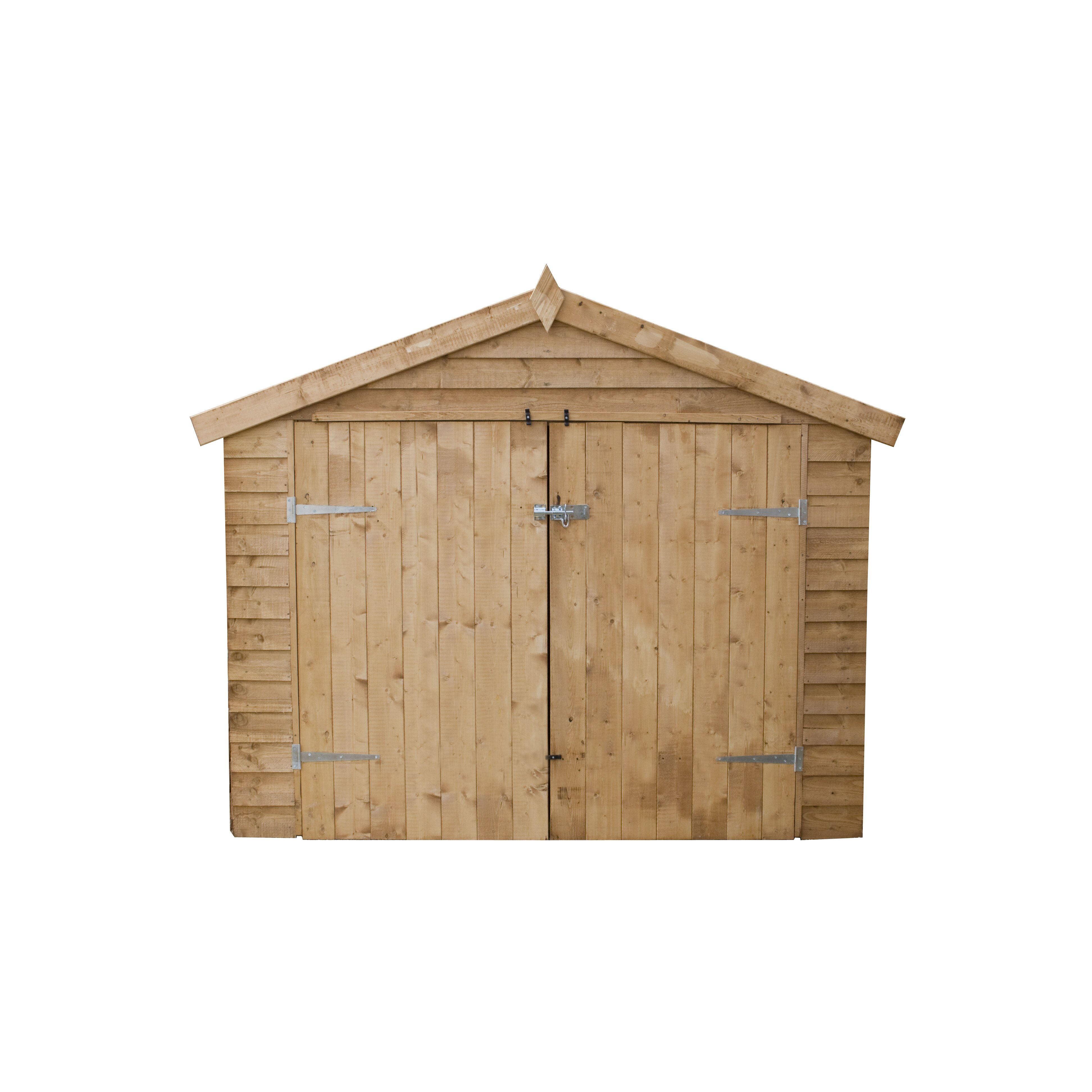 Mercia garden products 7 x 3 wooden bike shed reviews for Garden shed 7 x 3