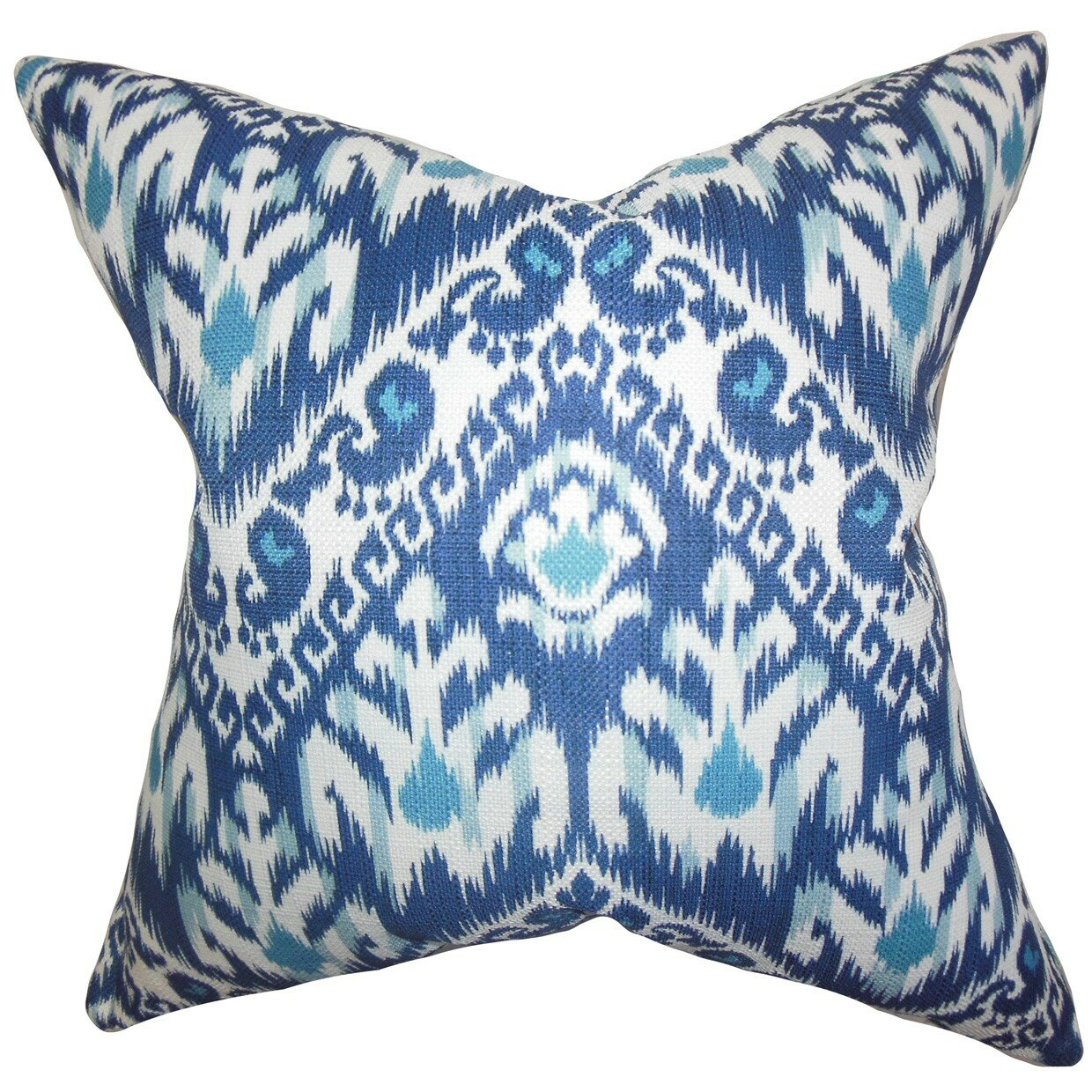 Wayfair Blue Decorative Pillows : The Pillow Collection Rafiq Ikat Throw Pillow & Reviews Wayfair
