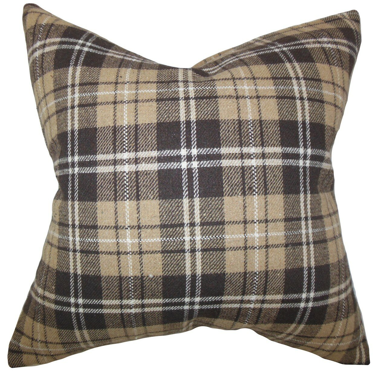 The Pillow Collection Baxley Plaid Wool Throw Pillow