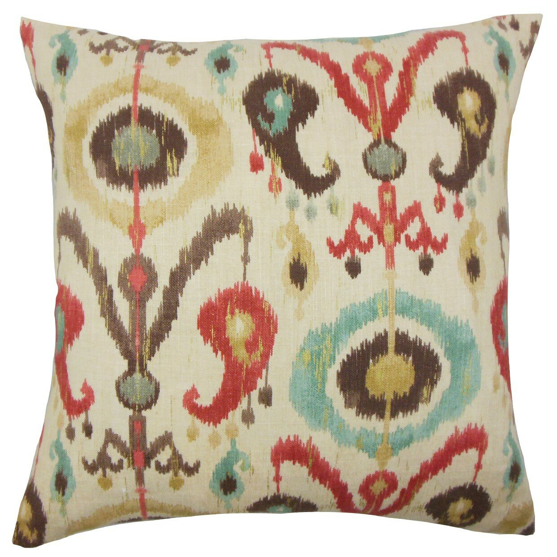 The Pillow Collection Ikea Ikat Cotton Throw Pillow