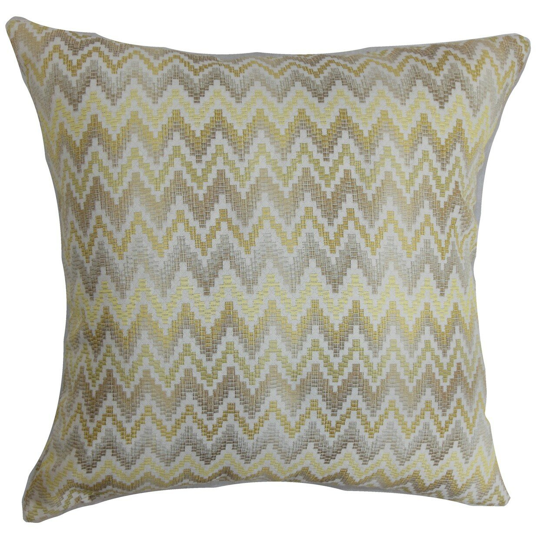 The Pillow Collection Yanira Zigzag Throw Pillow Wayfair