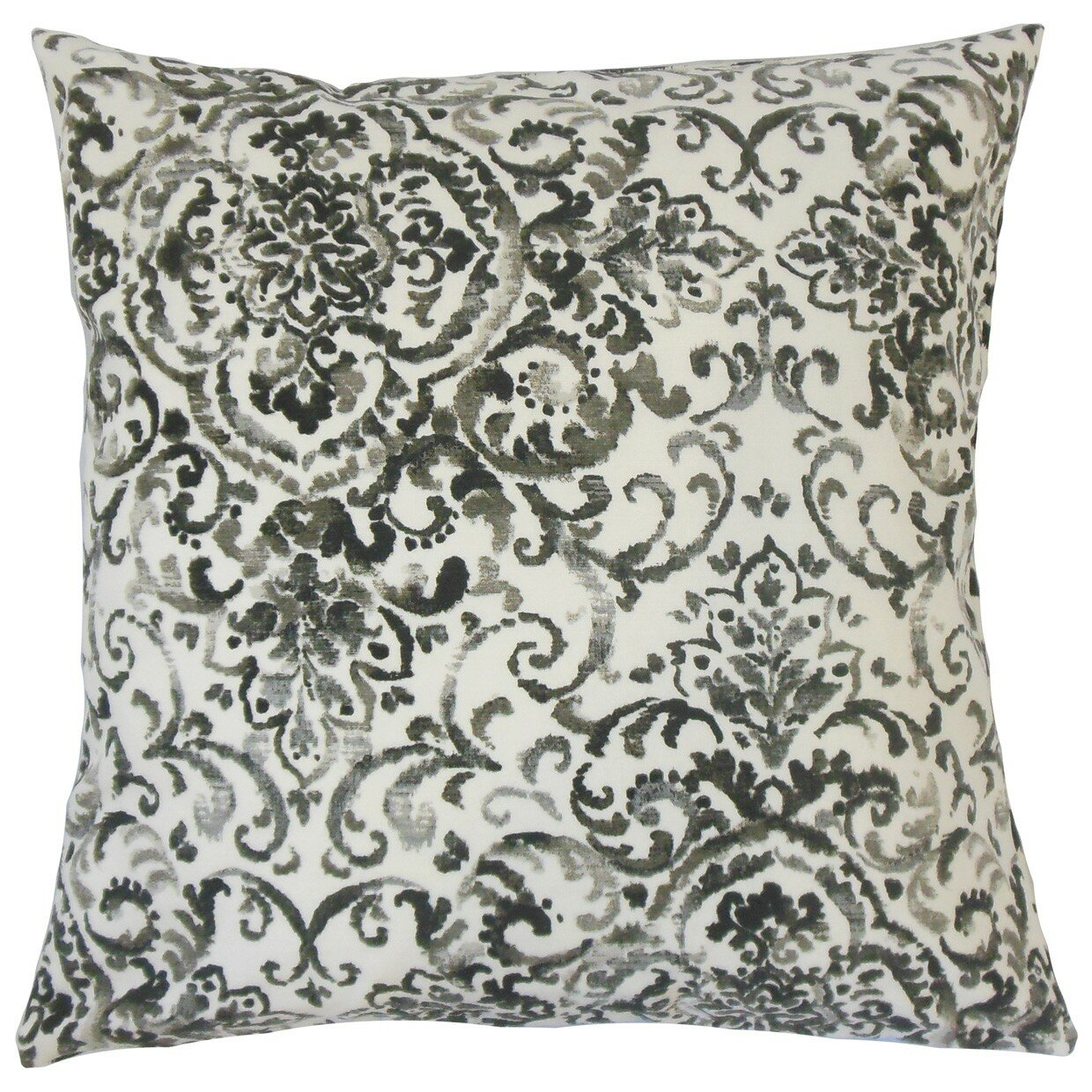 The Pillow Collection Serissa Damask Cotton Throw Pillow Wayfair