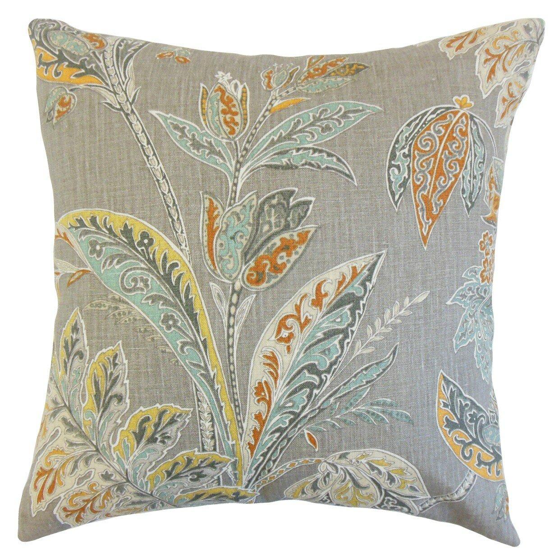 The Pillow Collection Taja Floral Linen Throw Pillow & Reviews Wayfair.ca