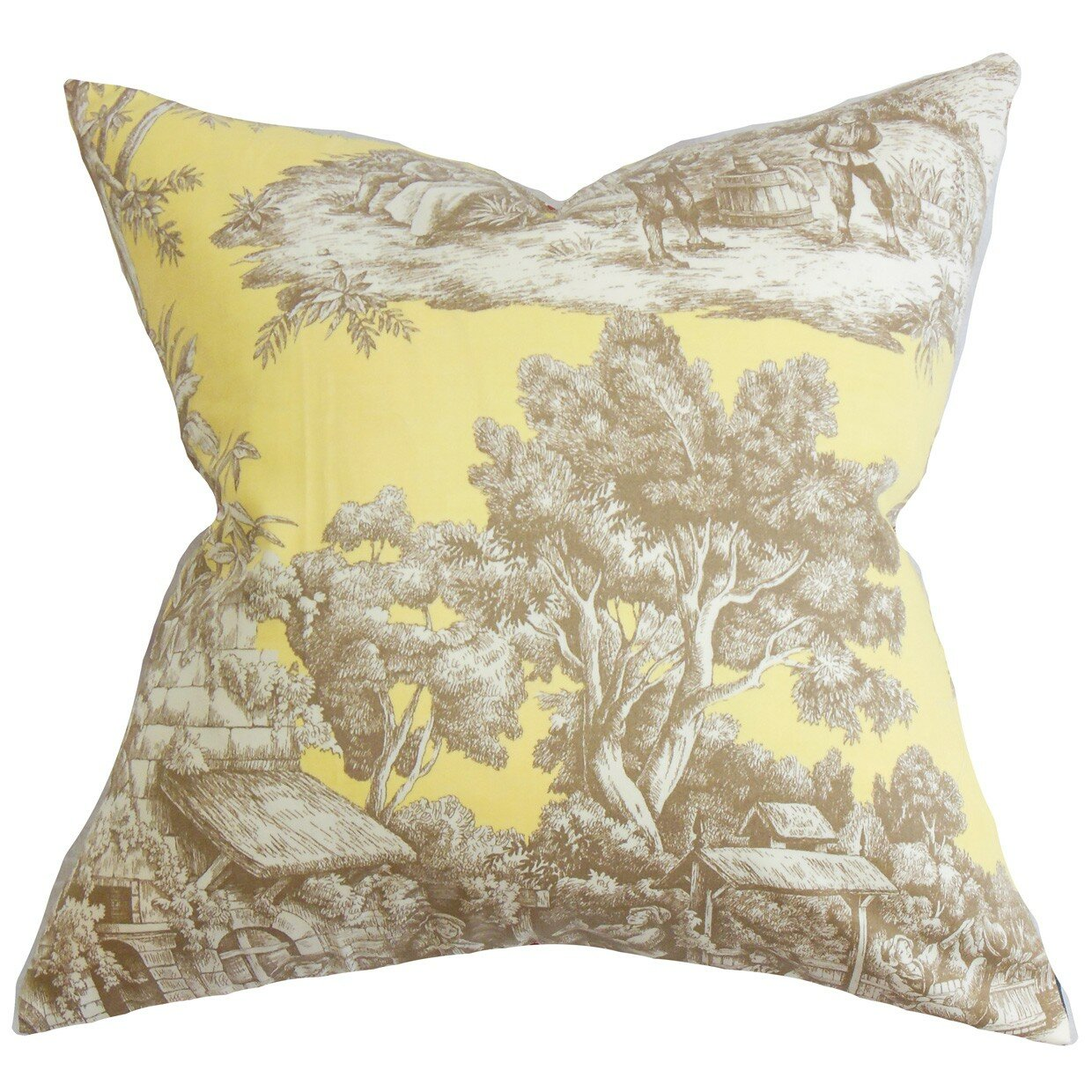 the pillow collection evlia toile cotton throw pillow. Black Bedroom Furniture Sets. Home Design Ideas