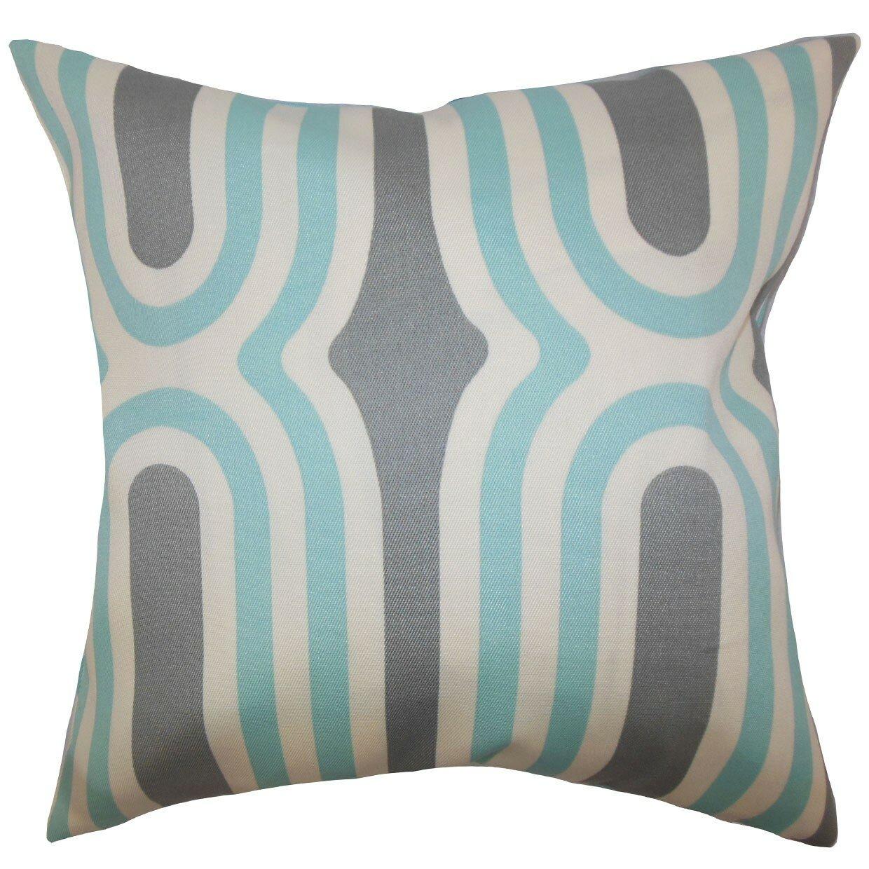 The Pillow Collection Persis Geometric Throw Pillow & Reviews Wayfair