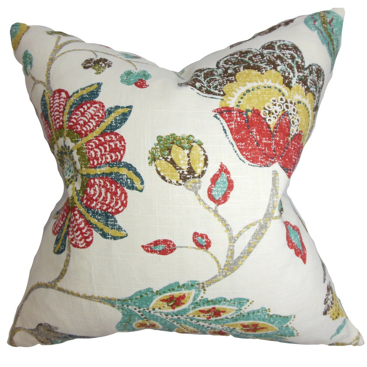 The Pillow Collection Jora Floral Throw Pillow & Reviews Wayfair