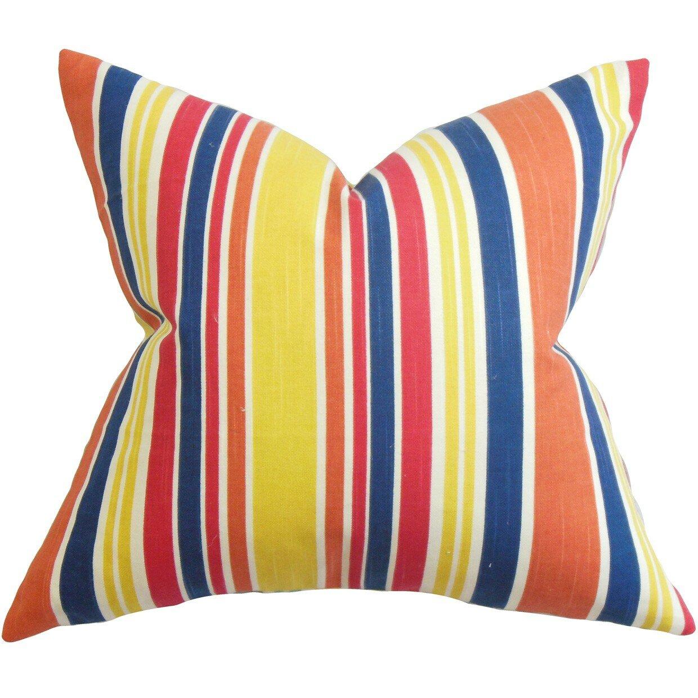 The Pillow Collection Manila Stripe Cotton Throw Pillow Wayfair