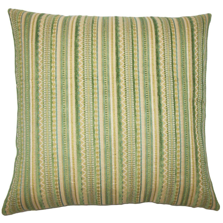 Wayfair Green Throw Pillows : The Pillow Collection Uorsin Striped Throw Pillow Wayfair