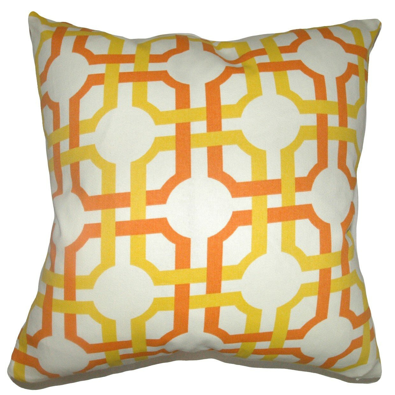 Throw Pillow Collections : The Pillow Collection Aebba Tile Cotton Throw Pillow & Reviews Wayfair