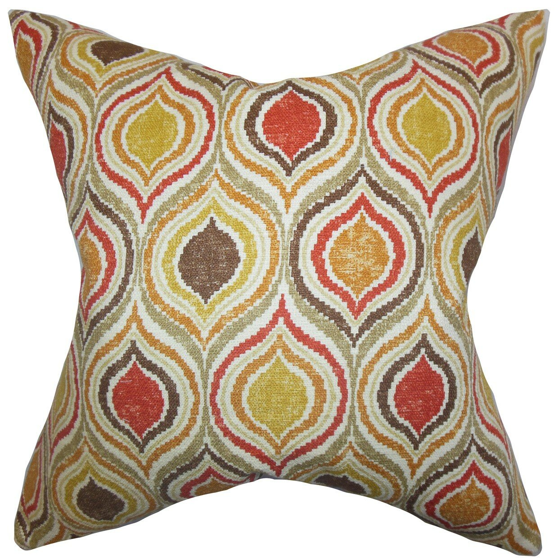 Throw Pillow Collections : The Pillow Collection Xylon Geometric Cotton Throw Pillow & Reviews Wayfair