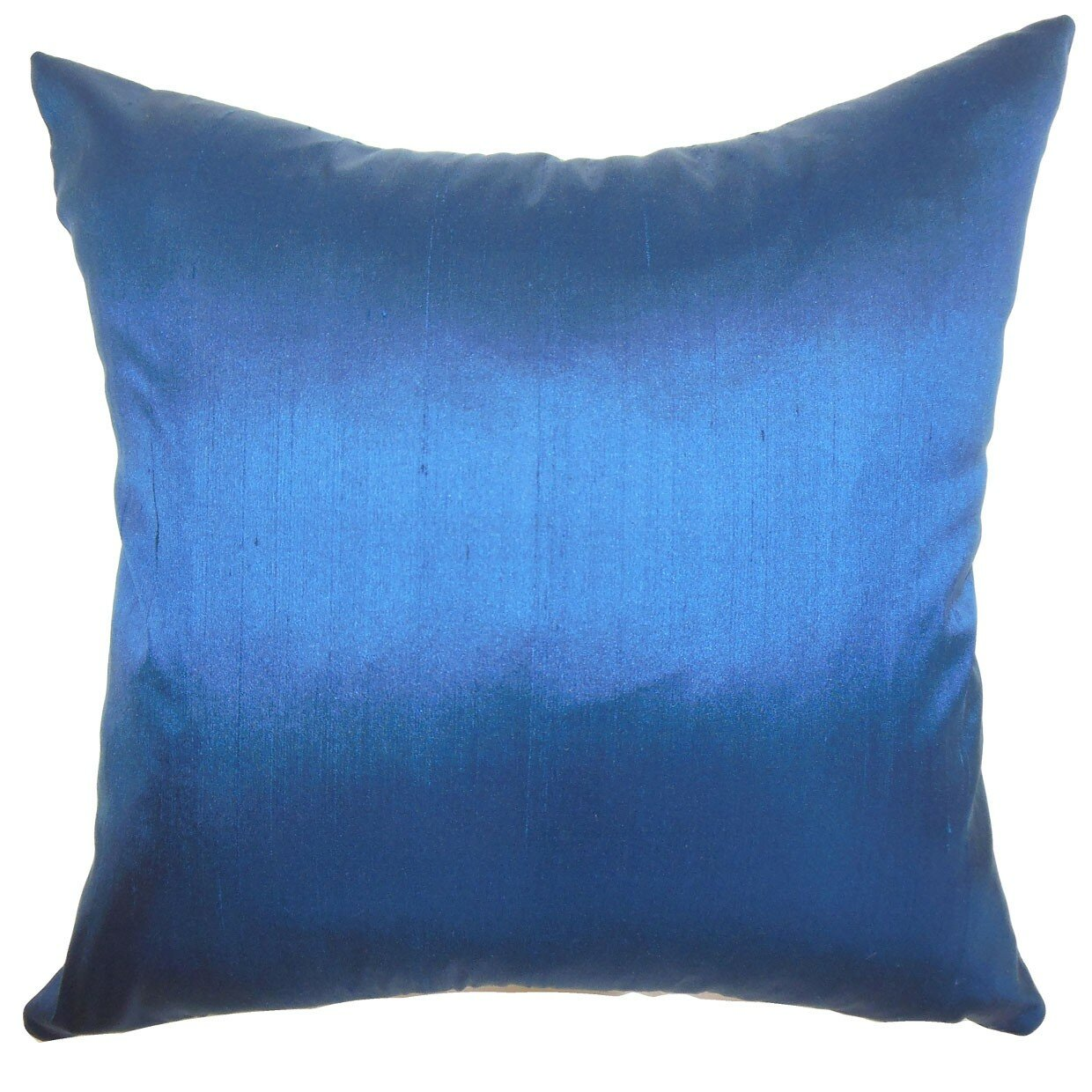 Wayfair Blue Decorative Pillows : House of Hampton Sheerness Plain Silk Throw Pillow & Reviews Wayfair