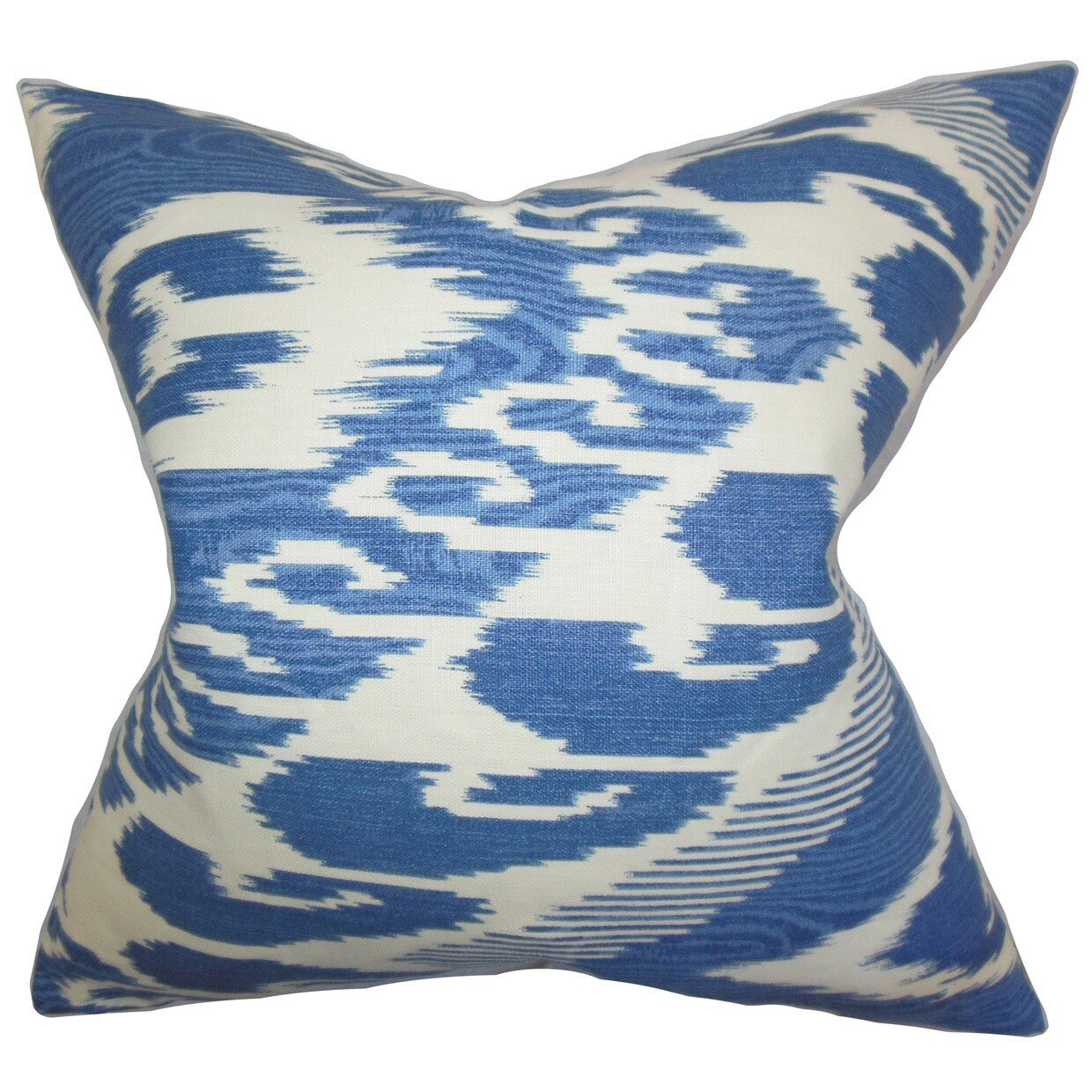 The Pillow Collection Fernande Ikat Linen Throw Pillow & Reviews Wayfair