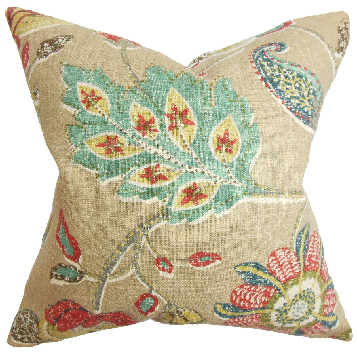 The Pillow Collection Jora Floral Throw Pillow Wayfair