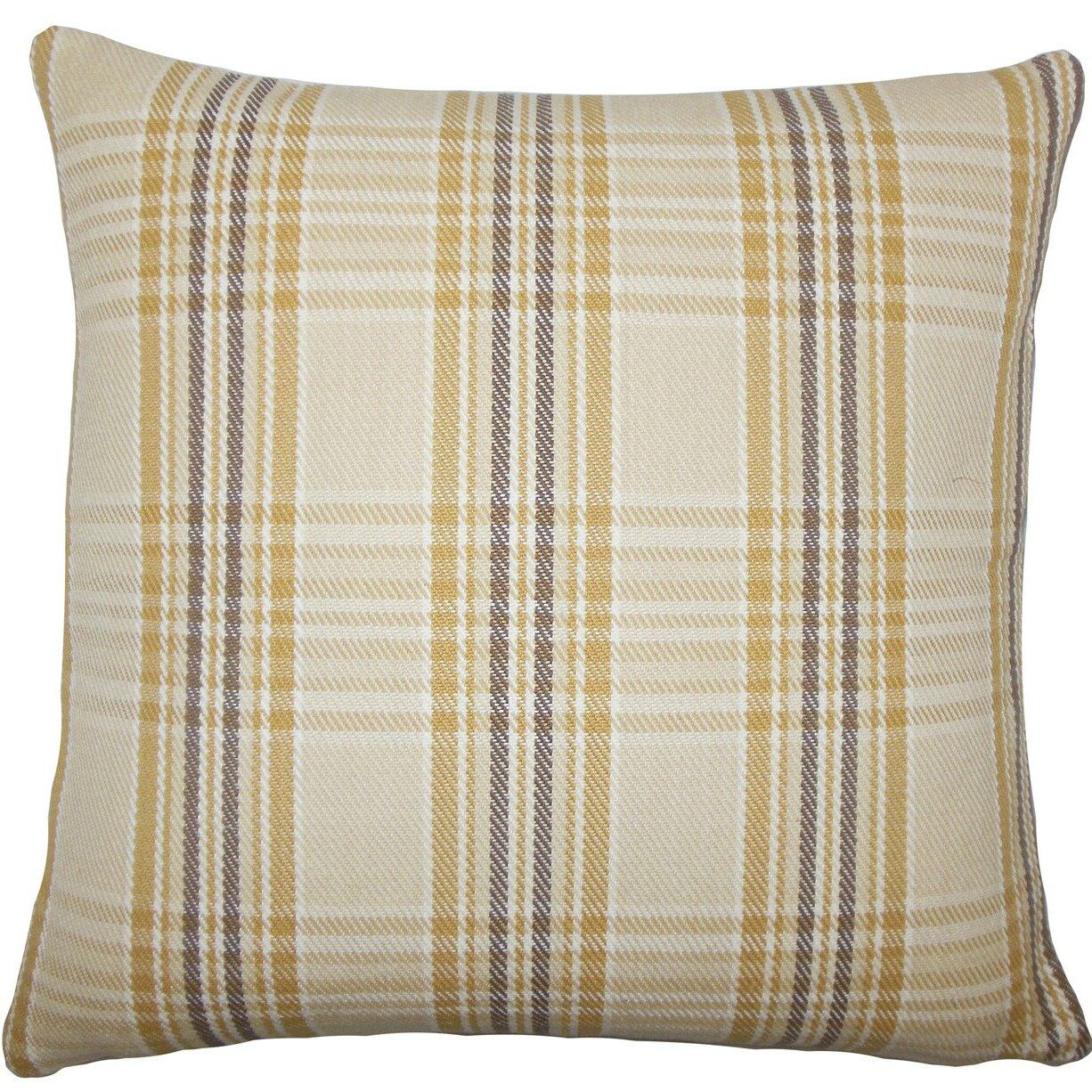 The Pillow Collection Mahlah Plaid Cotton Throw Pillow Wayfair