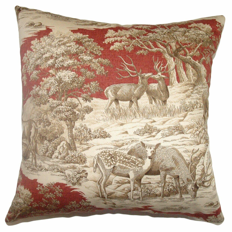 Throw Pillow Collections : The Pillow Collection Feramin Toile Front Cotton Throw Pillow & Reviews Wayfair