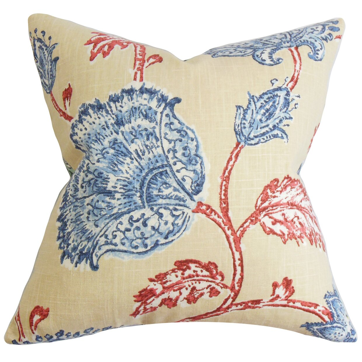 Wayfair Decorative Pillow Covers : The Pillow Collection Parthenia Floral Throw Pillow Cover Wayfair