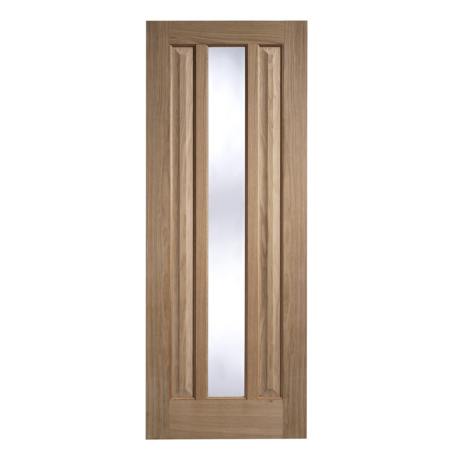 Lpd doors kilburn wooden 2 panel unfinished glazed for Internal wooden doors