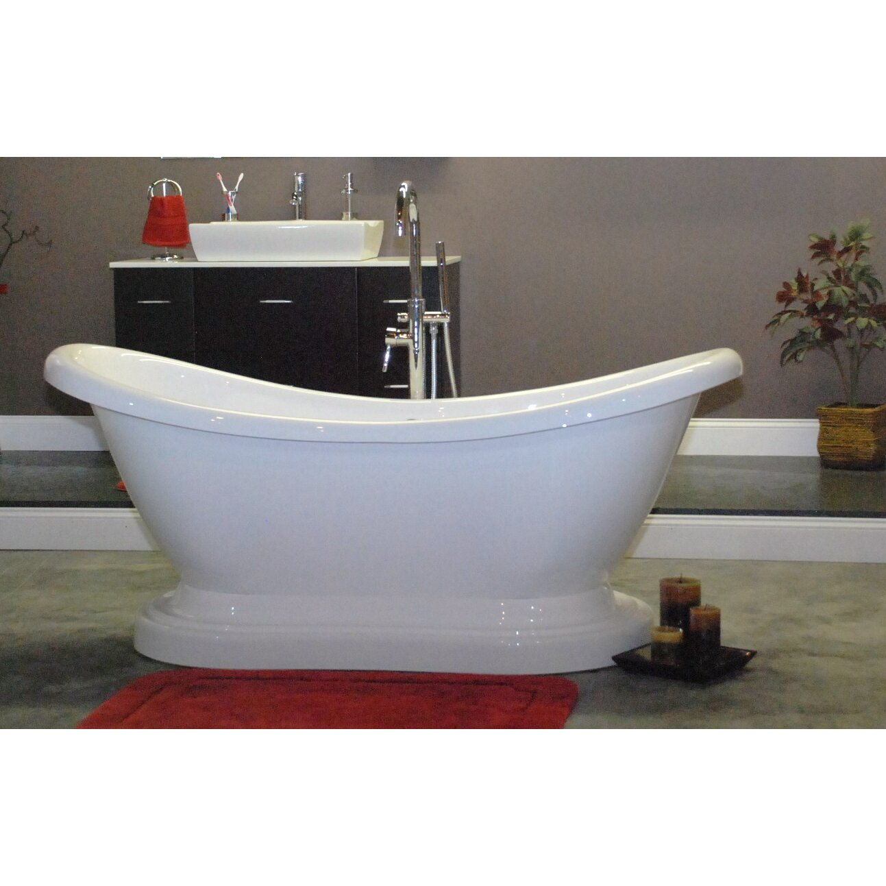 Cambridge Plumbing 6863quot x 29quot Pedestal Slipper Bathtub  : Cambridge Plumbing 6863 x 29 Pedestal Slipper Bathtub from www.wayfair.com size 1293 x 1293 jpeg 233kB