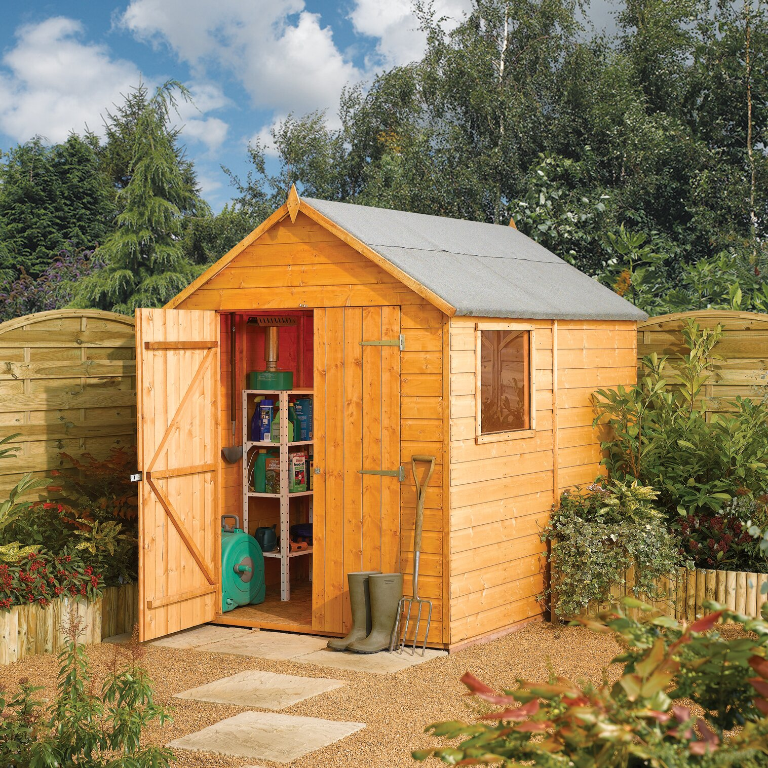 Rowlinson 6 X 8 Wooden Storage Shed