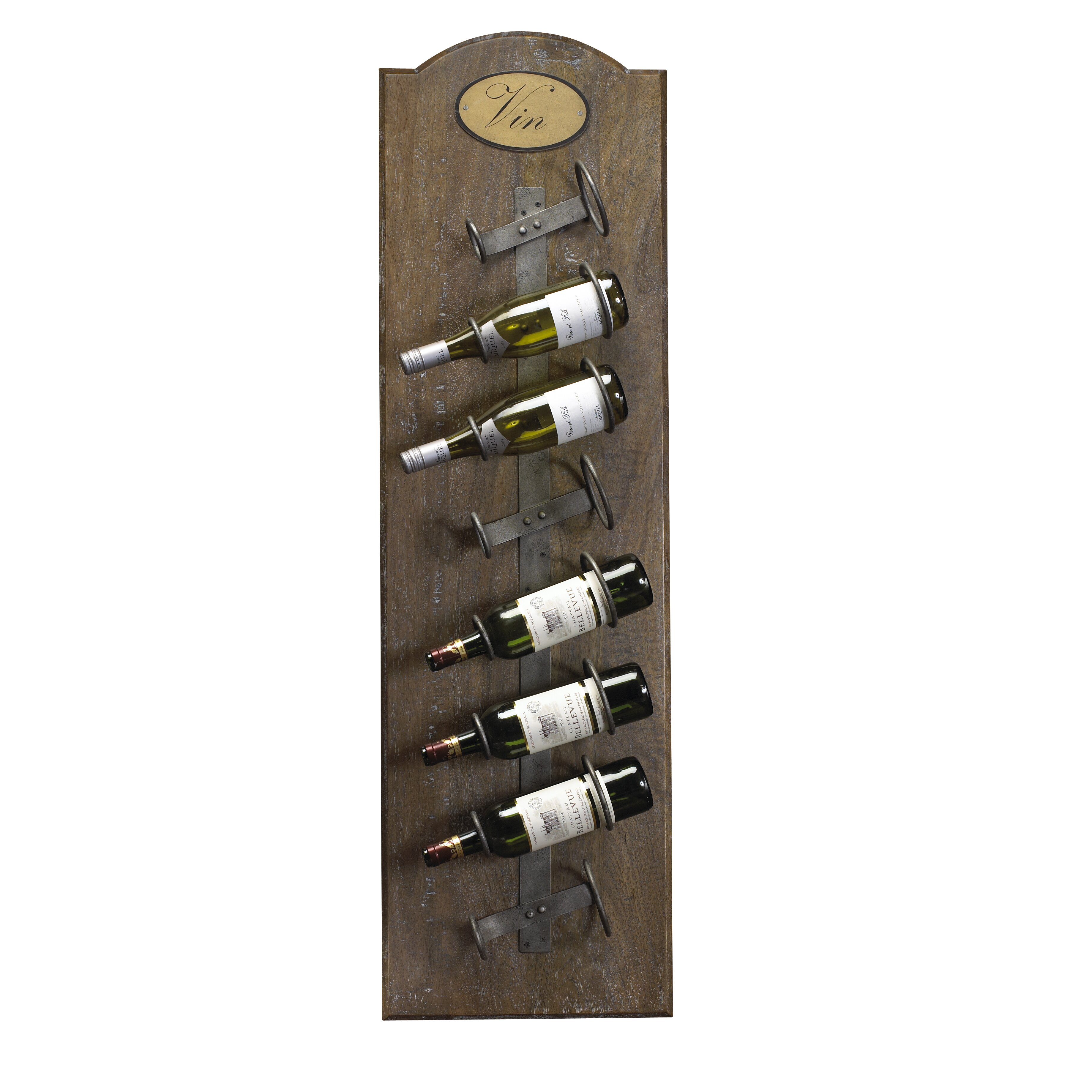 French Heritage French Accents 8 Bottle Wall Mounted Wine