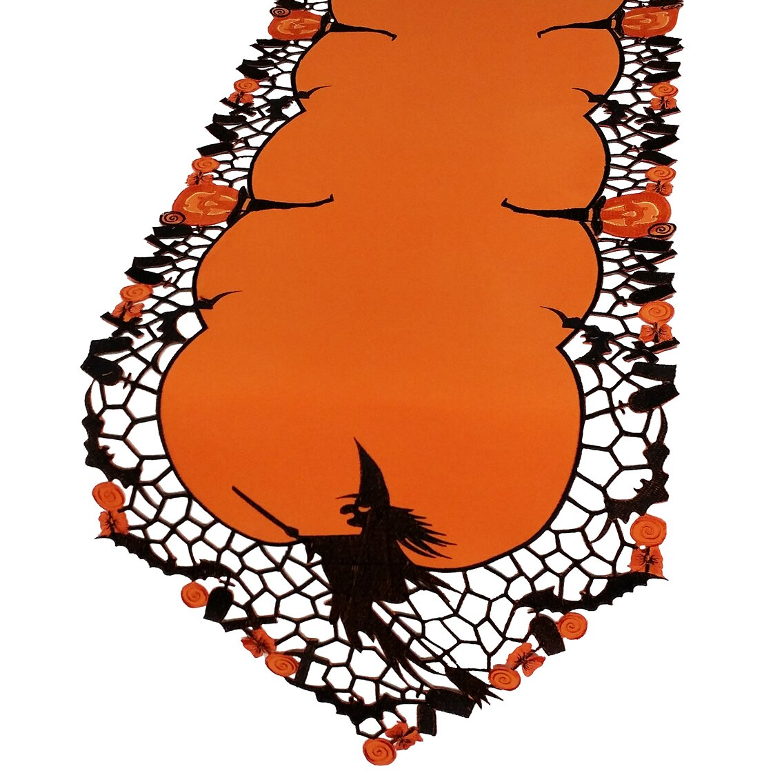 Xia Home Fashions Witch Embroidered Cutwork Halloween  : Witch Embroidered Cutwork Halloween Table Runner XD110131 from www.wayfair.com size 1121 x 1121 jpeg 266kB