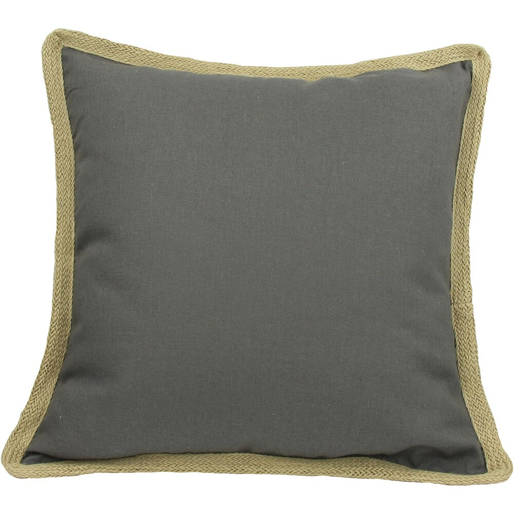 Jute Decorative Pillows : Xia Home Fashions Classic Jute Trimmed Solid Throw Pillow & Reviews Wayfair