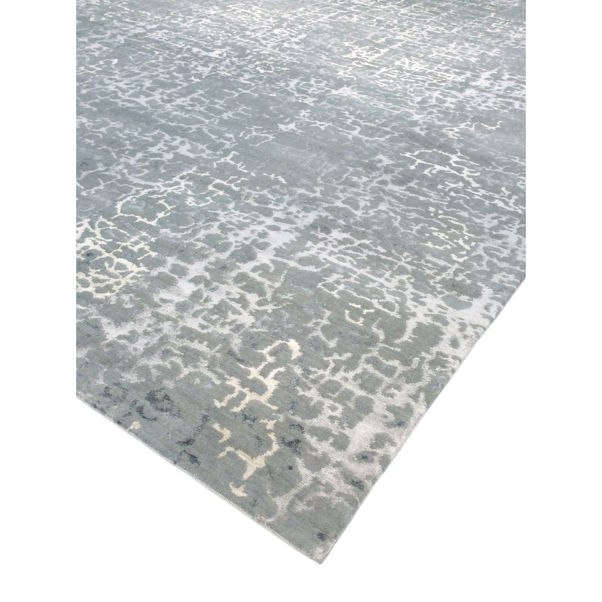 Pasargad modern hand knotted gray area rug wayfair for Modern wool area rugs