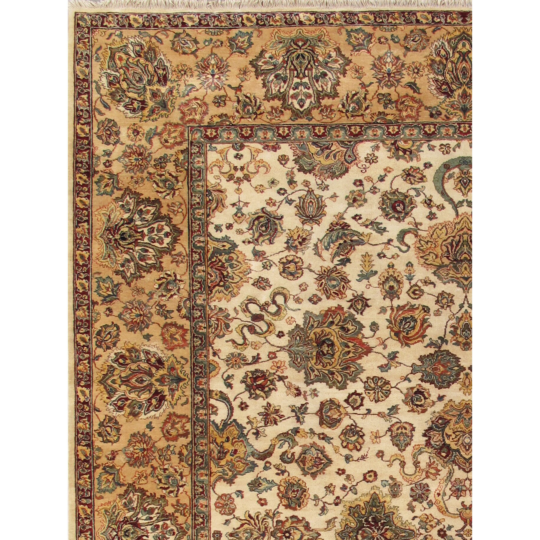Pasargad Agra Hand-Knotted Ivory Area Rug