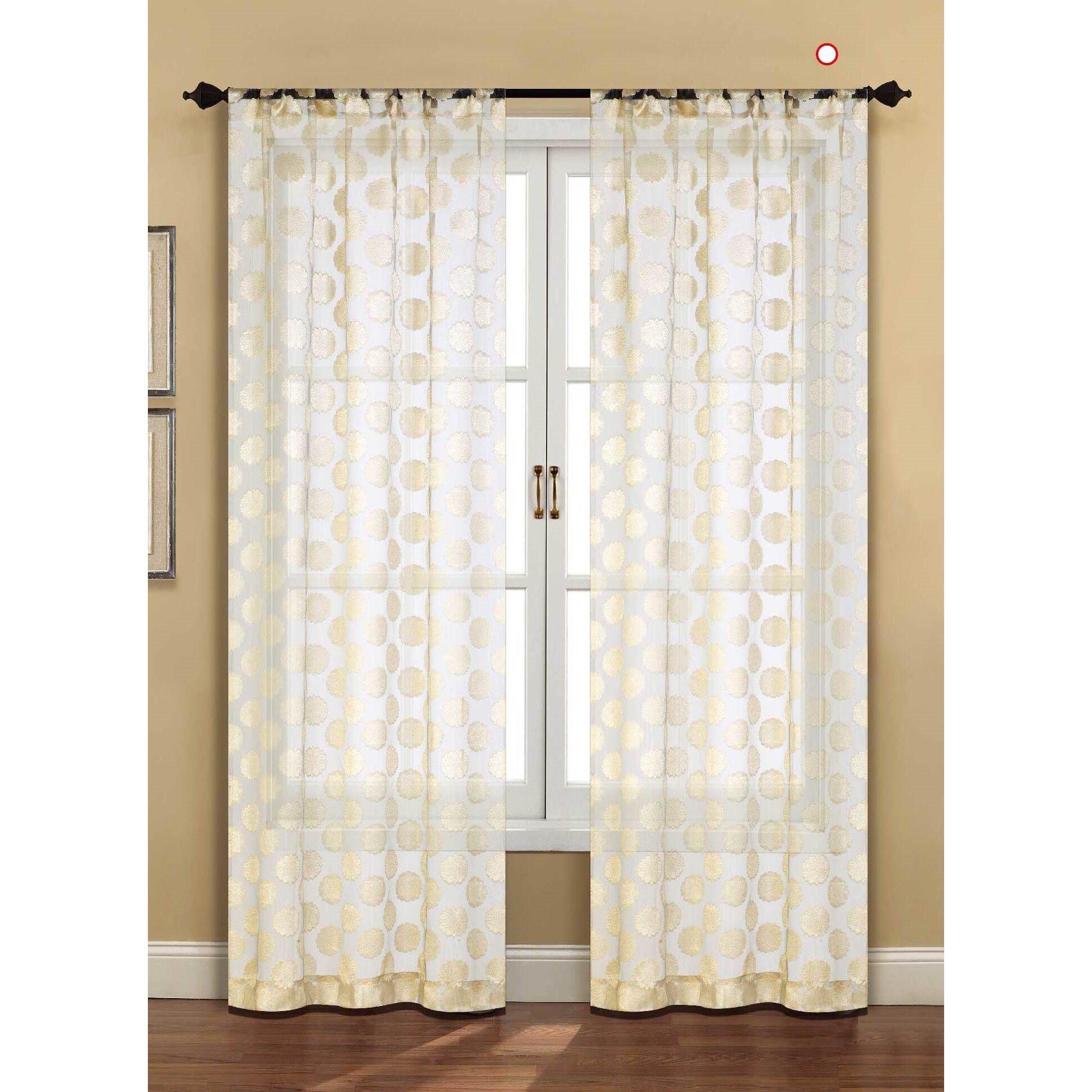home fashions international devine sheer curtain panel