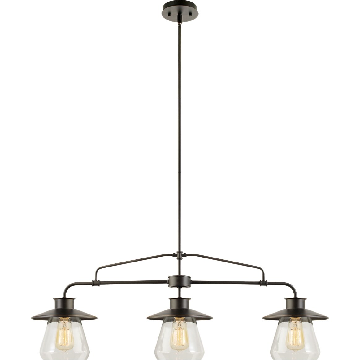 Globe electric company moyet 3 light kitchen island for Kitchen pendant lighting island