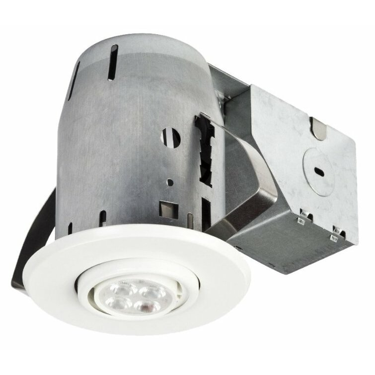 globe electric company led ic rated swivel spotlight 3 recessed kit. Black Bedroom Furniture Sets. Home Design Ideas