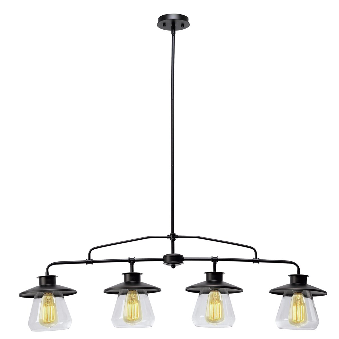 Globe electric company angelica 4 light kitchen island pendant reviews wayfair - Angelica kitchen delivery ...