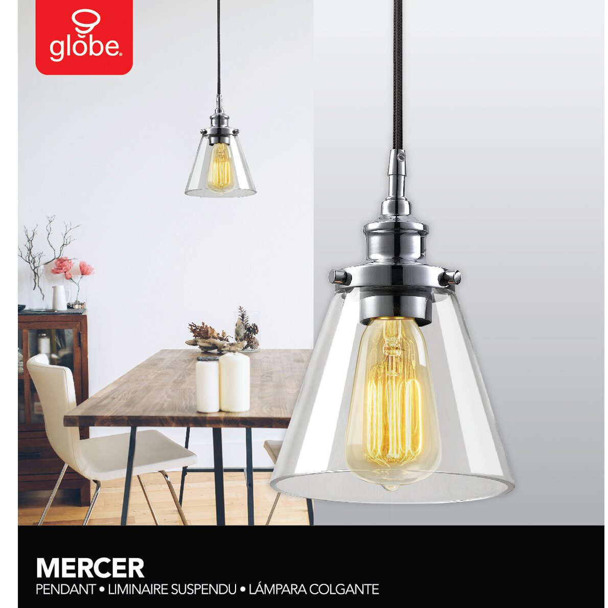 Globe electric company angelica 1 light mini pendant reviews - Angelica kitchen delivery ...
