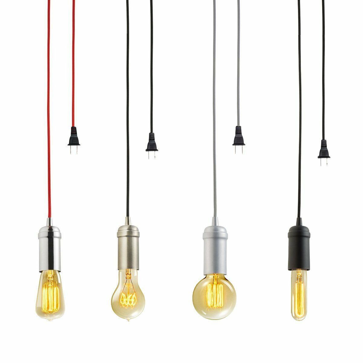 globe electric company plug in hanging 1 light mini. Black Bedroom Furniture Sets. Home Design Ideas