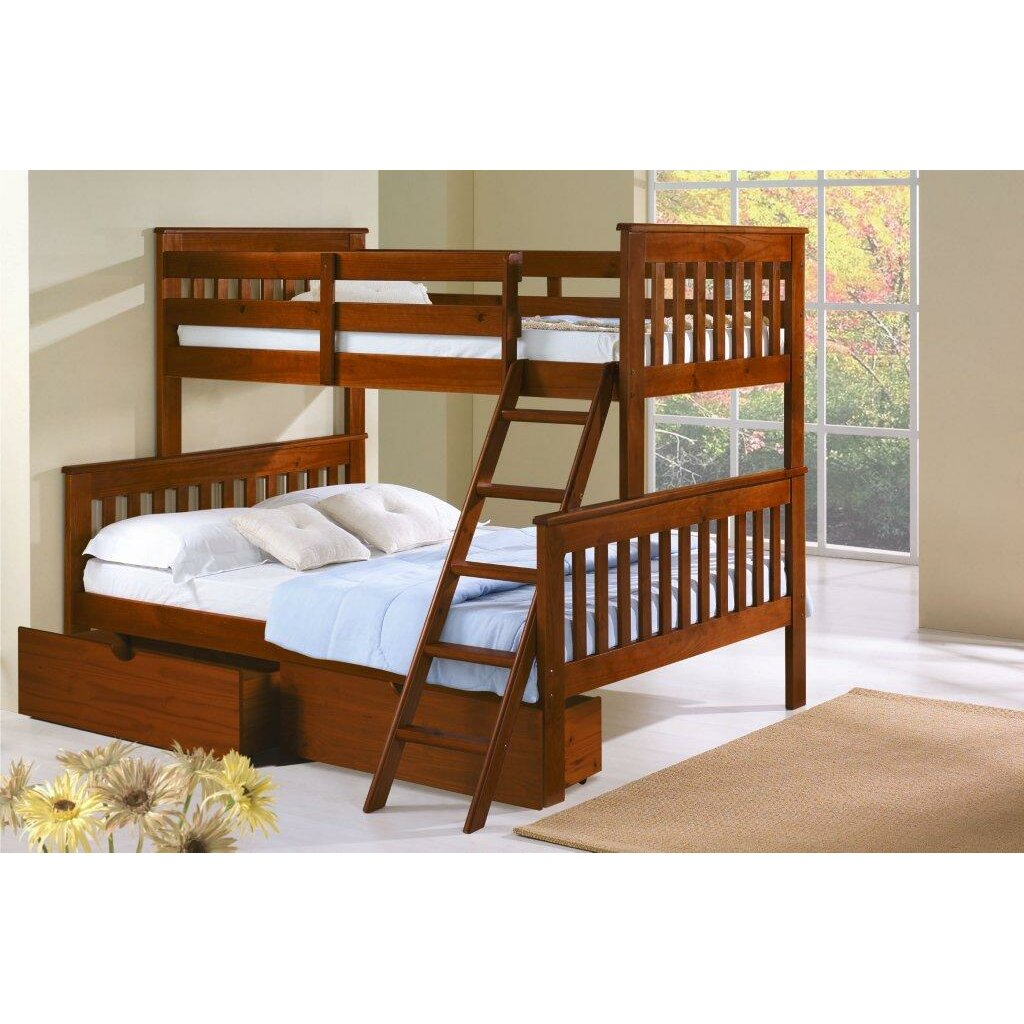 Donco Kids Twin over Full Standard Bunk Bed with Storage