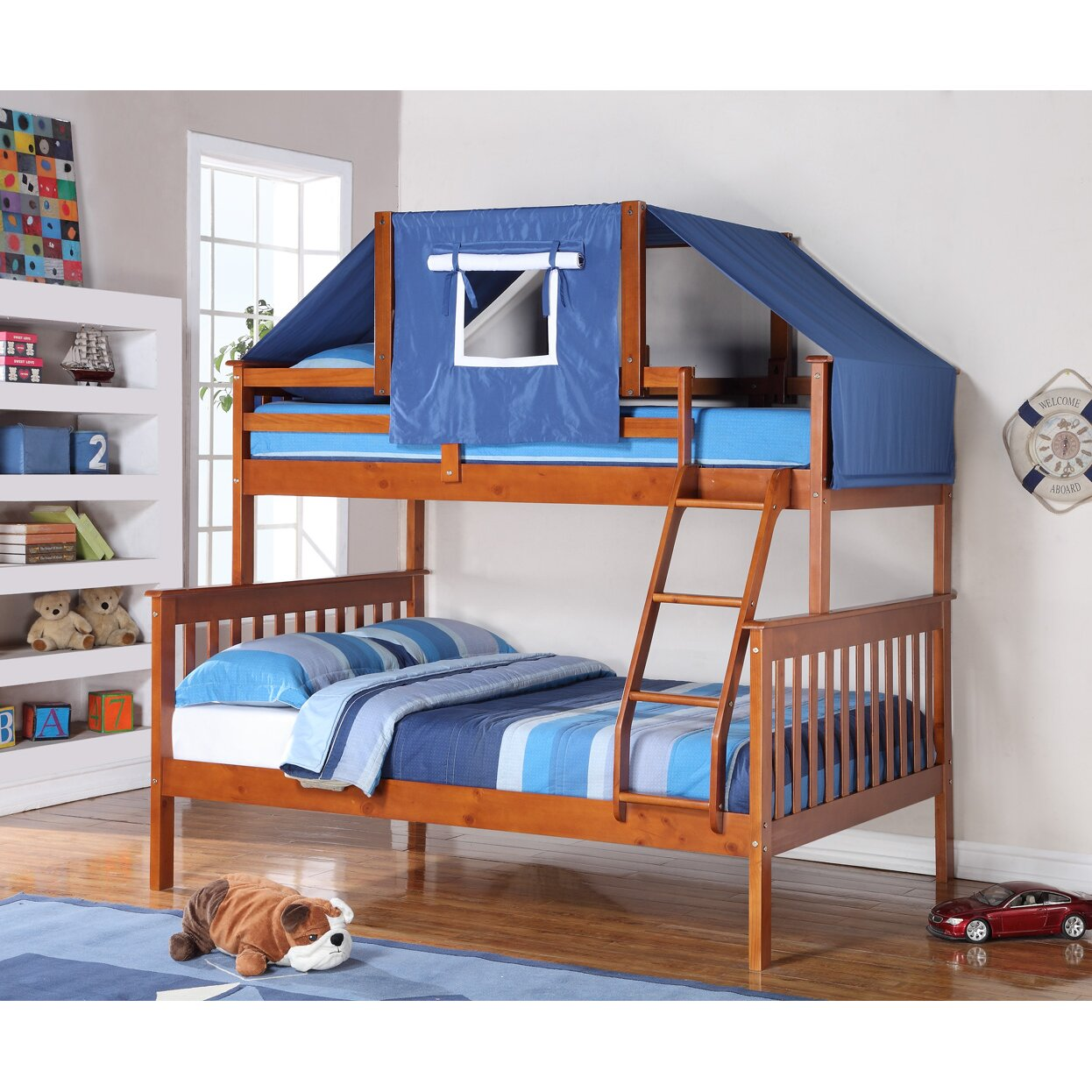 donco kids donco kids twin over full futon bunk bed reviews wayfair. Black Bedroom Furniture Sets. Home Design Ideas