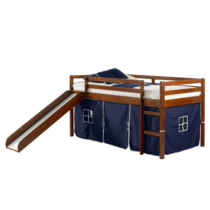 donco kids tent twin slat bed reviews wayfair. Black Bedroom Furniture Sets. Home Design Ideas