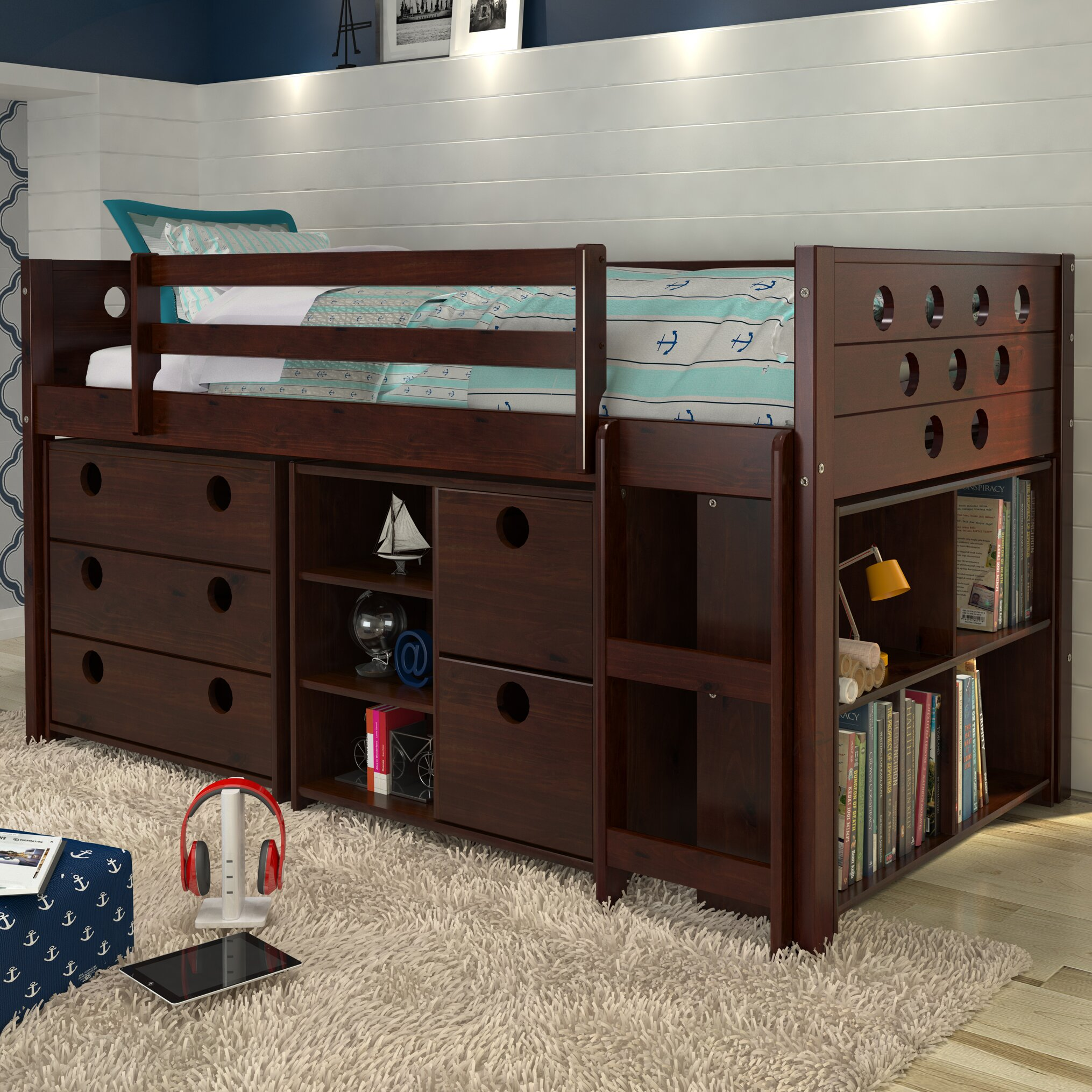 loft bed with storage donco circles loft bed with storage amp reviews 31101