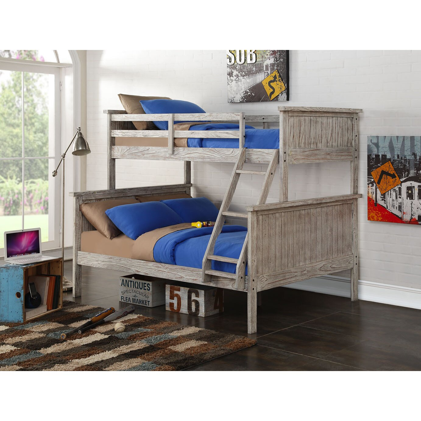 Donco Kids Twin over Full Bunk Bed Wayfair : Twin Over Full Panel Bunk Bed with Distressed Driftwood Finish 004TFD from www.wayfair.com size 1382 x 1382 jpeg 423kB