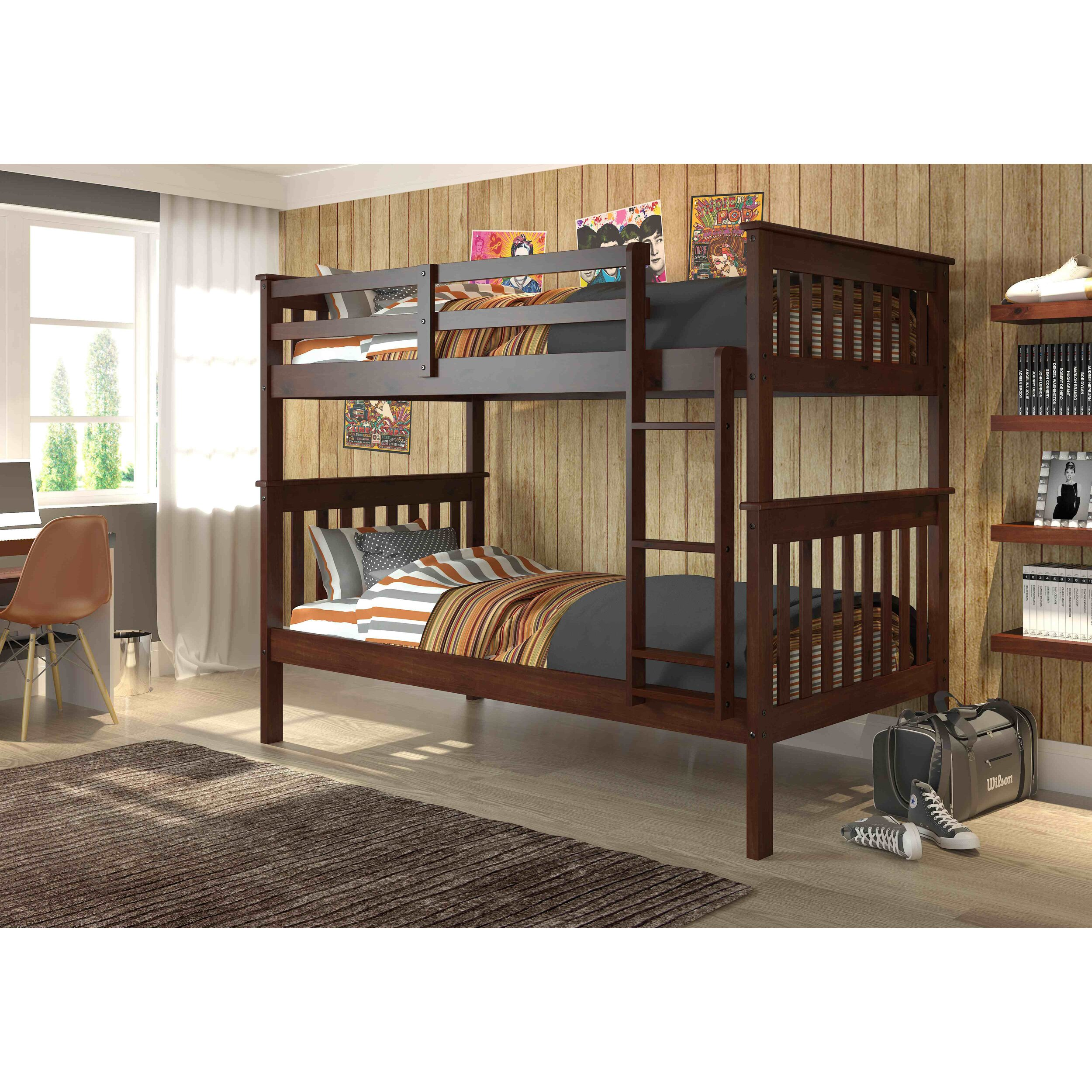 donco kids donco twin bunk bed reviews. Black Bedroom Furniture Sets. Home Design Ideas