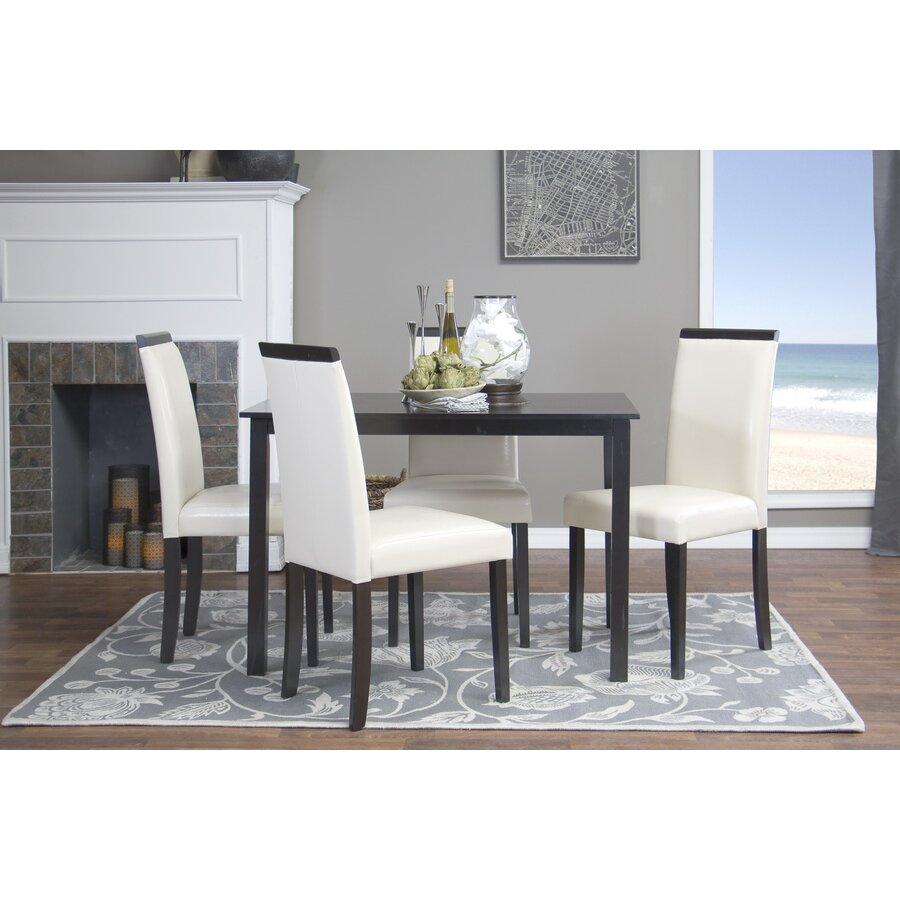 wholesale interiors baxton studio milano 5 piece dining