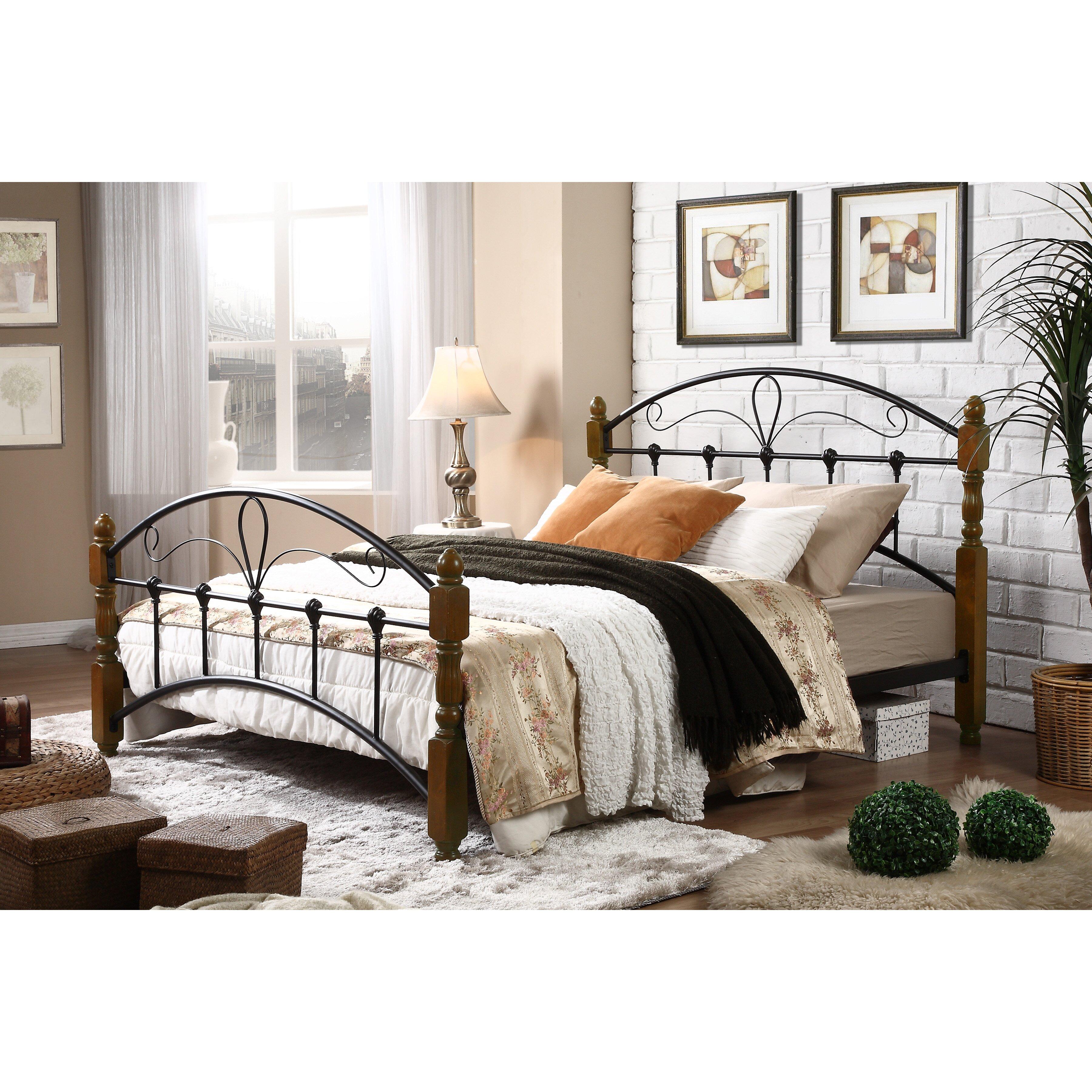 wholesale interiors baxton studio queen platform bed reviews wayfair. Black Bedroom Furniture Sets. Home Design Ideas