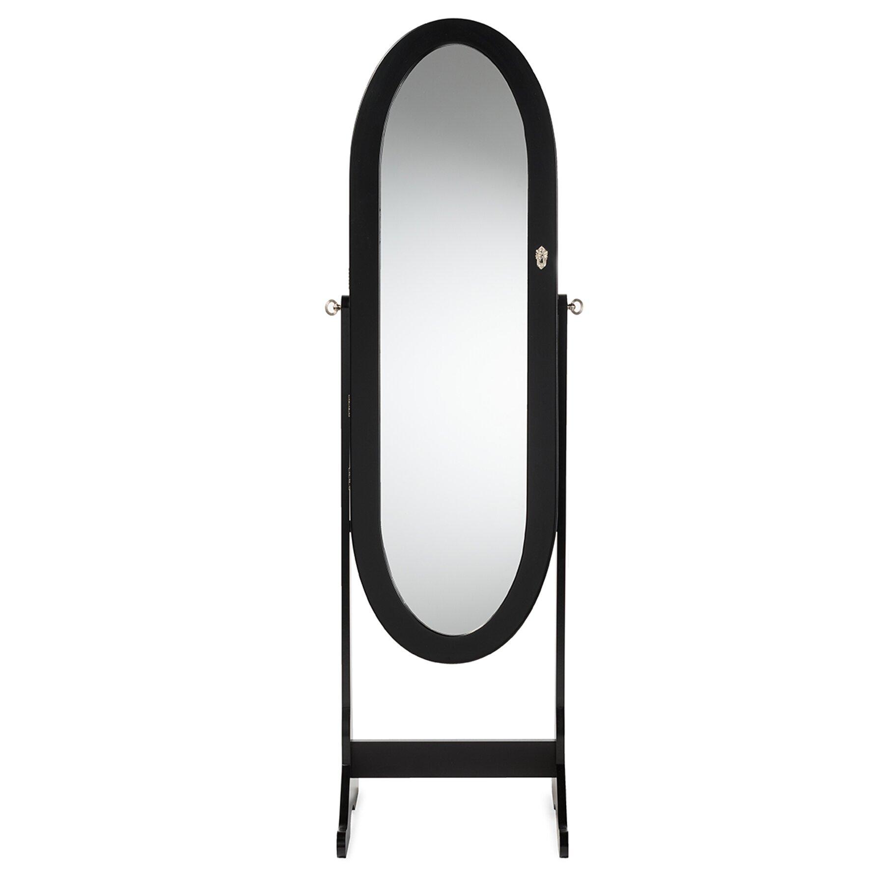 Wholesale interiors baxton studio apache jewelry armoire for Wholesale mirrors