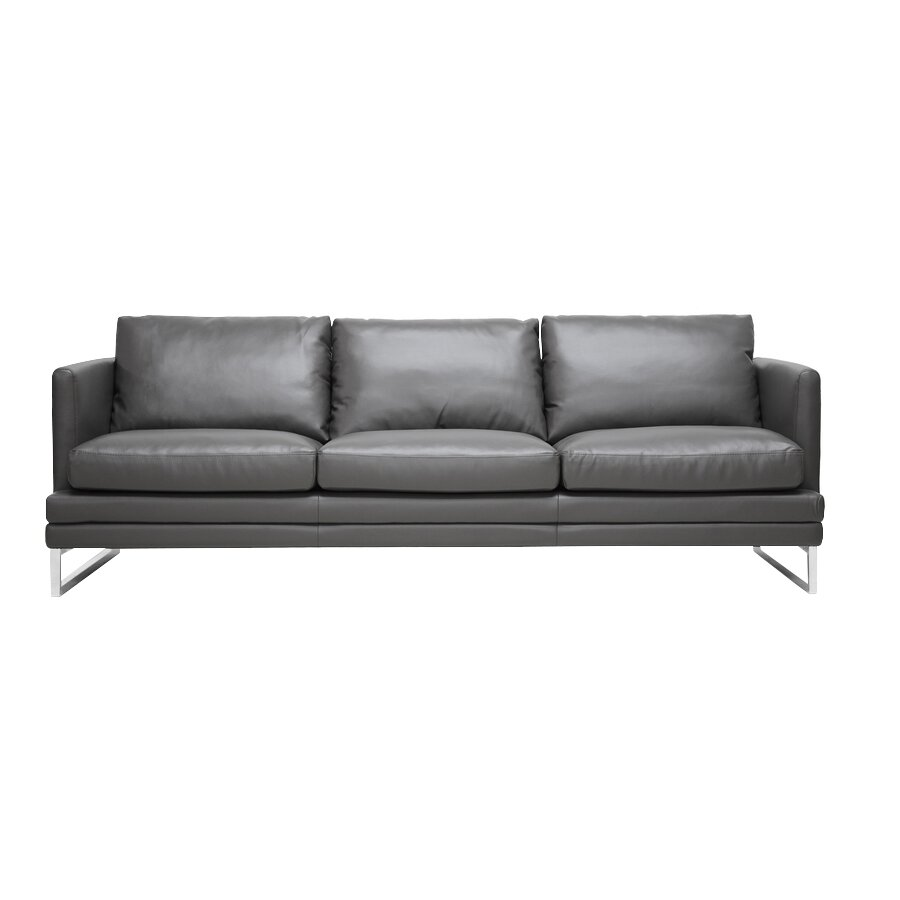 Wholesale Interiors Baxton Studio Dakota Leather Sofa Reviews Wayfair