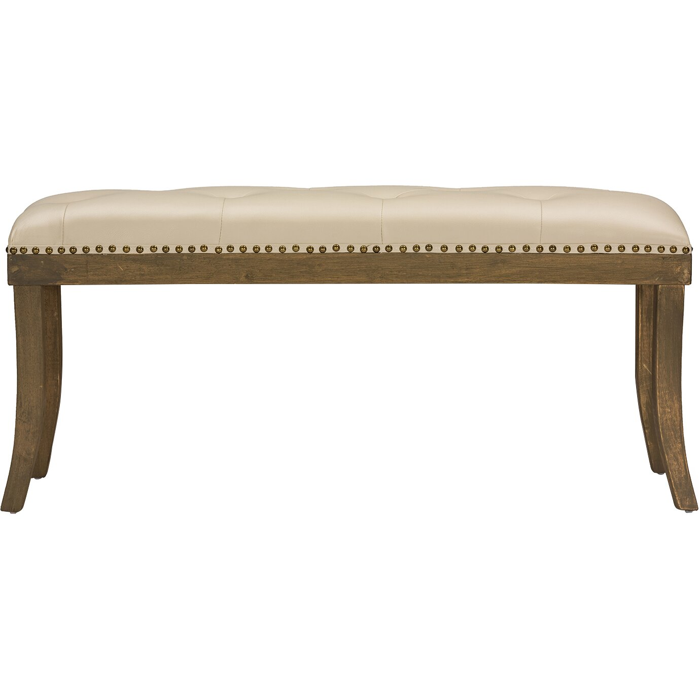 Wholesale Interiors Baxton Studio Damien Faux Leather Bench Reviews Wayfair