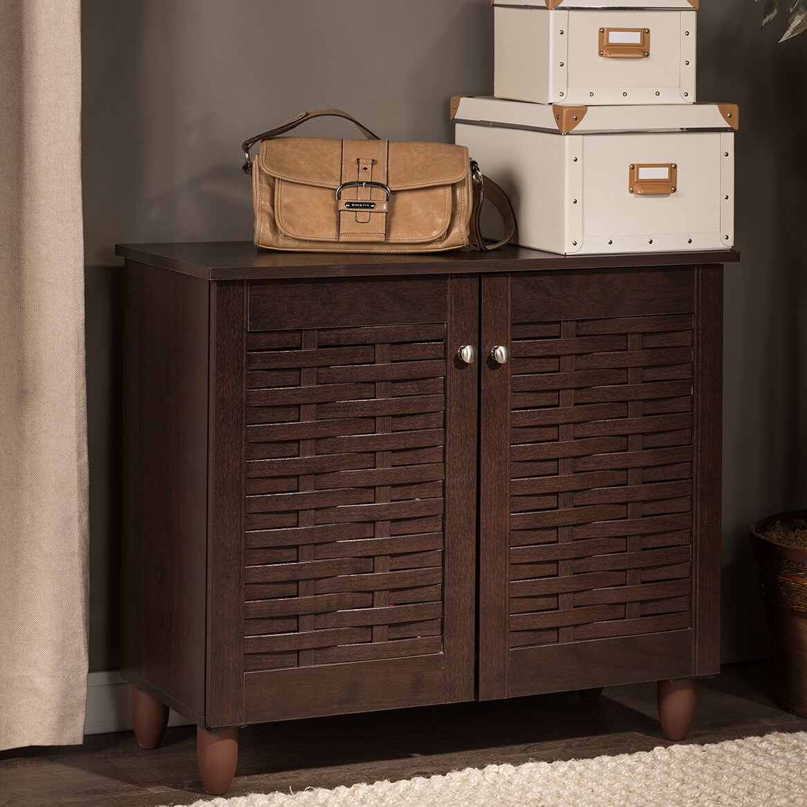 Entryway Cabinets: Wholesale Interiors Baxton Studio Winda 9-Pair Shoe